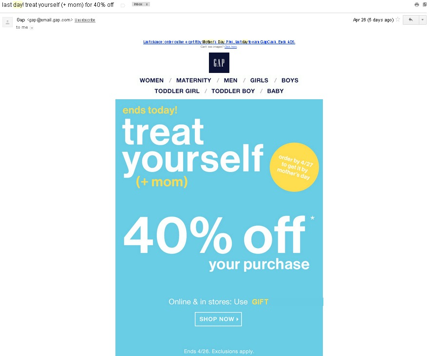 Special Mother's Day Email Campaign Ideas
