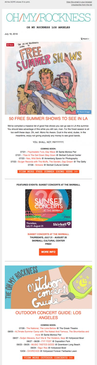 5 Stand Out Summer Email Marketing Campaigns of 2016
